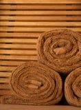 Toallas de la sauna Fotografía de archivo