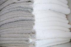 Toallas de Terry blancas Imagen de archivo