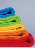 Toallas de terry del color foto de archivo libre de regalías