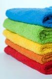 Toallas de terry del color fotos de archivo libres de regalías