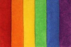 Toallas del arco iris Imagen de archivo libre de regalías