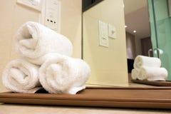 Toallas del hotel Fotografía de archivo