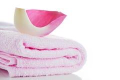 Toallas rosadas fotografía de archivo libre de regalías