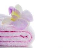Toallas rosadas imagen de archivo libre de regalías