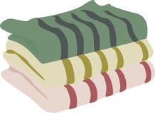 Toallas tricolores para el cuarto de baño stock de ilustración