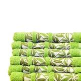 Toallas verdes foto de archivo