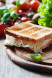Toas with ham and cheese Stock Image