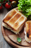 Toas with ham and cheese Royalty Free Stock Images