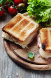 Toas with ham and cheese Royalty Free Stock Photos