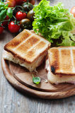 Toas with ham and cheese Royalty Free Stock Image
