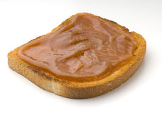 Toast. Ed white bread with jam Royalty Free Stock Images