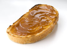 Toast. Rich crunchy toasted on white background Royalty Free Stock Photography
