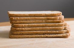 Toast. A stack of dried toast Stock Images