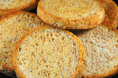 Toast. Image of toasted bread made from organic ingredients Royalty Free Stock Photos