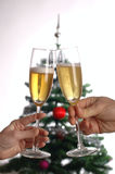 Toast. With glasses of champagne Royalty Free Stock Images