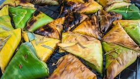 Toast angefüllt mit klebrigem Reis Lizenzfreie Stockfotos