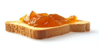 Toast with apricot jam Stock Image