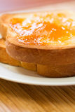 Toast and Apricot Preserves Royalty Free Stock Image