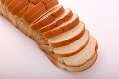 Toast auf weißem Hintergrund lizenzfreies stockfoto