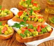 Toast with avocado Stock Images