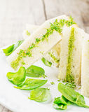 Toast with avocado paste and watercress Royalty Free Stock Photography