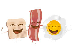 Toast bacon and fried egg Royalty Free Stock Photography