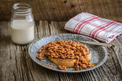 Toast and Beans Stock Image