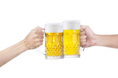 A toast of beer Royalty Free Stock Images