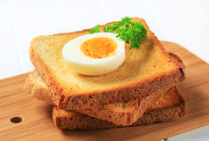 Toast and boiled egg Royalty Free Stock Photo
