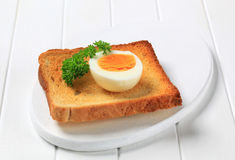Toast and boiled egg Royalty Free Stock Photography