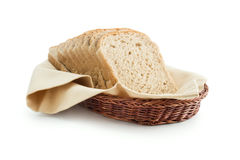 Toast bread in a basket Stock Photos