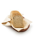 Toast bread in a basket Royalty Free Stock Images