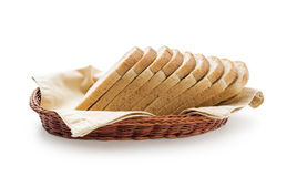 Toast bread in a basket Stock Photo