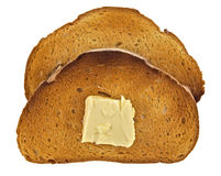 Toast of bread with butter Royalty Free Stock Photos
