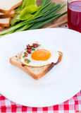Toast bread and egg Stock Photography