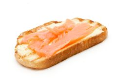 Toast bread with fish Stock Photography
