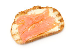 Toast bread with fish Stock Image