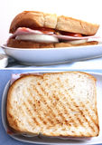 Toast bread ham burger Stock Image