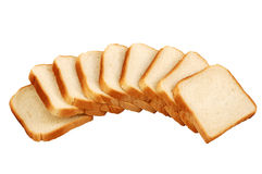 Toast Bread isolated. Over white background Royalty Free Stock Image