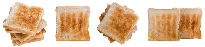 Toast Bread (isolated on white) Stock Photos