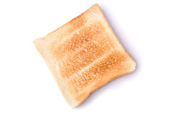 A toast of bread isolates Stock Image