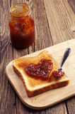 Toast bread with jam Royalty Free Stock Photography