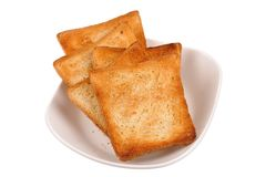 Toast bread on a plate Stock Image