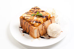 Toast Bread Pudding Royalty Free Stock Photos