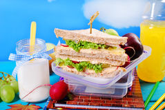 Toast bread sandwiches for school breakfast Royalty Free Stock Image