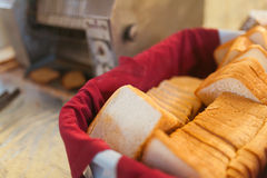 Toast bread slices Royalty Free Stock Images