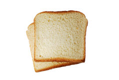 Toast bread slices isolated Stock Photos