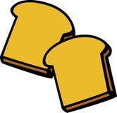Toast bread slices vector illustration. Vector illustration of two toast bread slices royalty free illustration