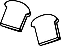 Toast Bread Slices Vector Illustration Royalty Free Stock Images