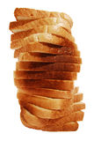 Toast bread spiral tower Stock Photo